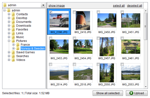 An easy to use Image Uploader for websites
